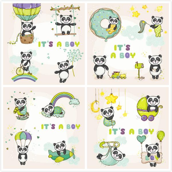 0 点 关键词: 卡通熊猫动物图标矢量素材,星星,儿童插画,可爱,热气球