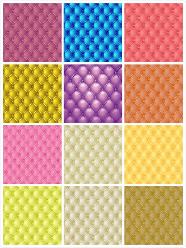 时尚彩色沙发纹理背景矢量素材