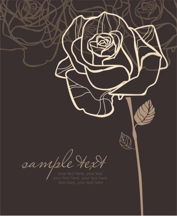底纹,典雅,经典,玫瑰花,矢量素材,手绘,图案,纹样,线稿,手绘,线稿