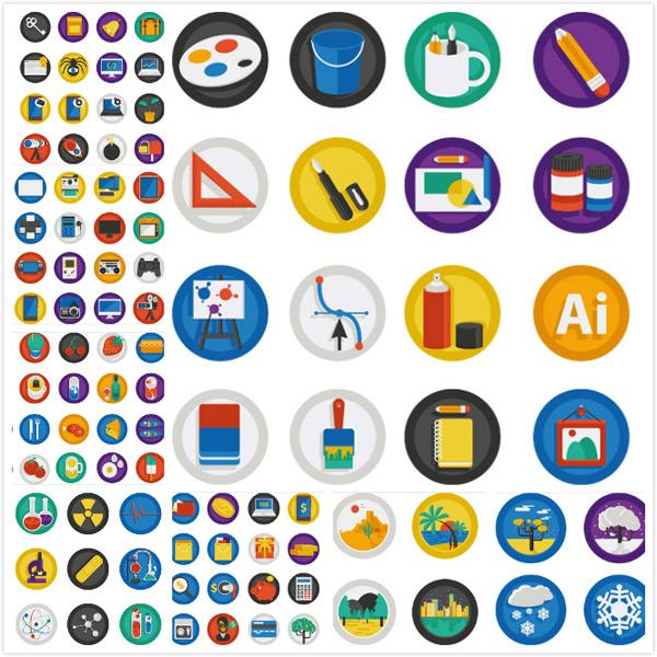时尚彩色扁平化图标设计矢量素材,扁平化图标,圆形图标,时尚图标,生活图标,网站图标,时尚元素,简约图标,时尚元素,卡通,象形图案,标识,标志,图标,时尚标签,简约,品质标签,徽标徽章标帖,标志图标,EPS