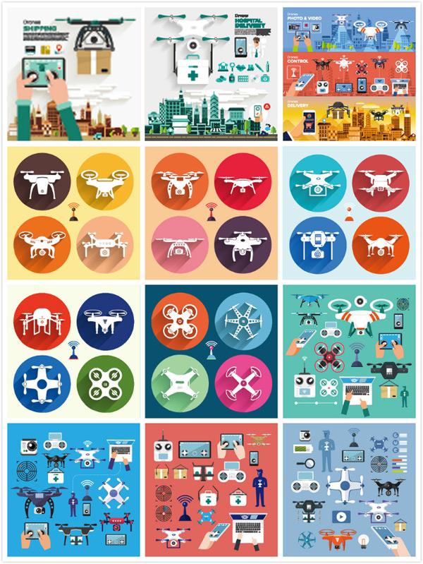 0 点 关键词: 扁平化无人机设计矢量素材,扁平化飞机,卡通图标,漫画