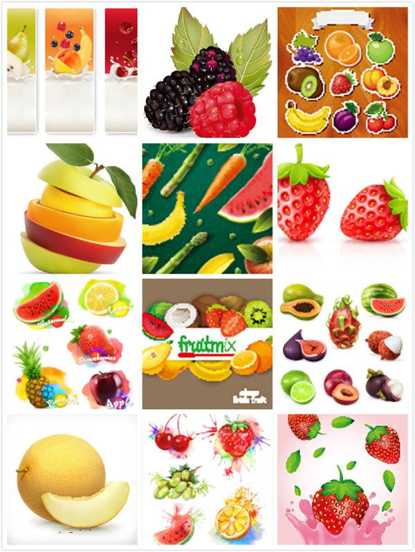 0 点 关键词: 卡通水果设计矢量素材,菠萝,葡萄,桔子,绿苹果,猕猴桃