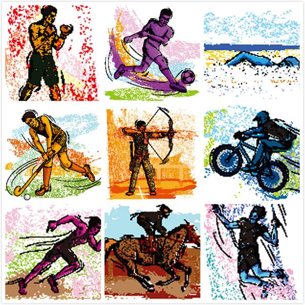 0 点 关键词: 体育项目运动人物插画矢量素材,人物插画,绘画,彩色