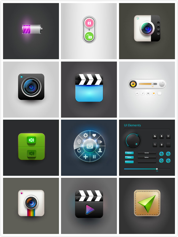 网路图标按钮设计矢量素材,网络图标,时尚图标,个性图标,导航条,进度