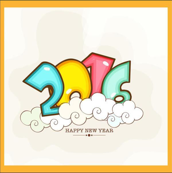 卡通2016,2016,可爱2016,2016字体,2016字体设计,橙色2016,可爱云朵20图片