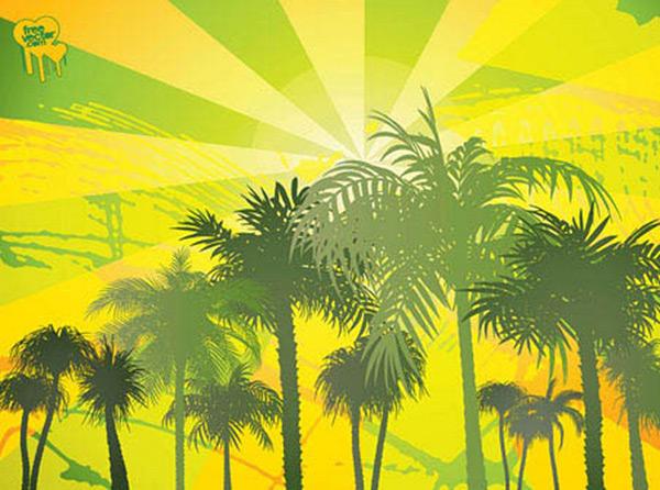 棕榈树矢量_素材中国sccnn.com