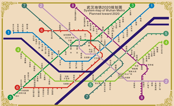 素材分类: 矢量地图所需点数: 0 点 关键词: 武汉地铁2020年规划图图片