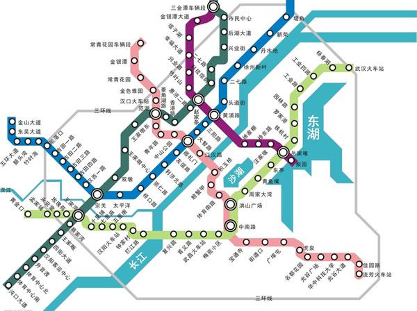 武汉市地铁路线图