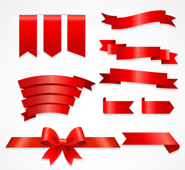 0 点 关键词: 红色丝带装饰元素矢量素材,蝴蝶结,红色标签,丝带,红色