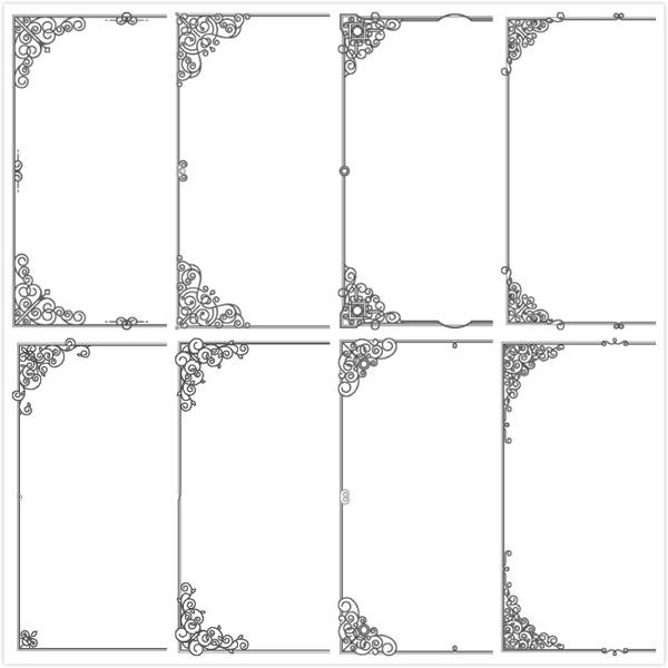欧式花边边框设计矢量素材