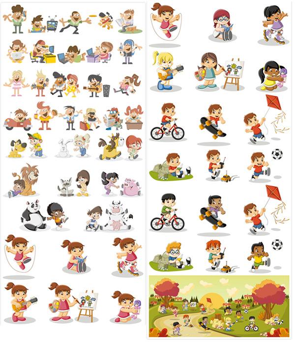 孩子,人物模型,男孩,女孩,爱好,学习,特长,动画片,卡通人物,儿童,儿童
