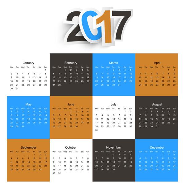2017日历
