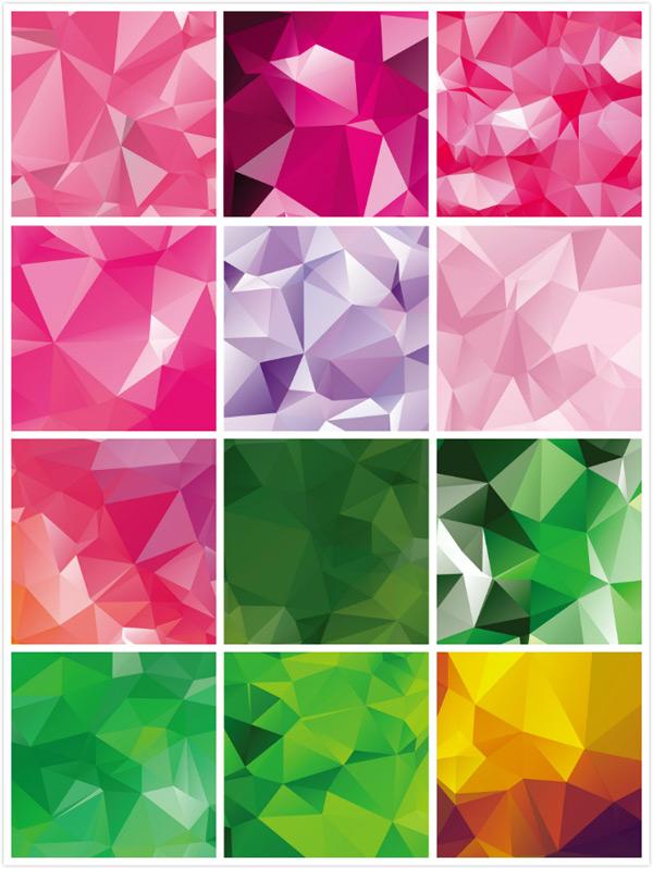几何多边形背景设计矢量素材,三角形背景,低多边形背景,几何图案
