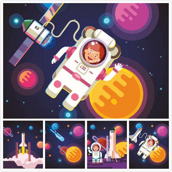 宇航员,卡通宇航员
