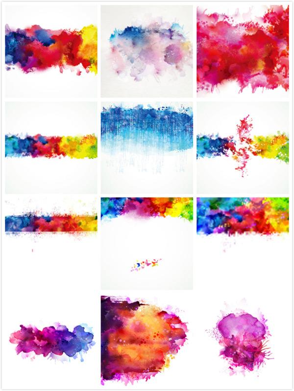 水彩,彩色颜料,彩色水彩,彩色涂鸦,彩色油漆,彩色墨水,设计,底纹边框
