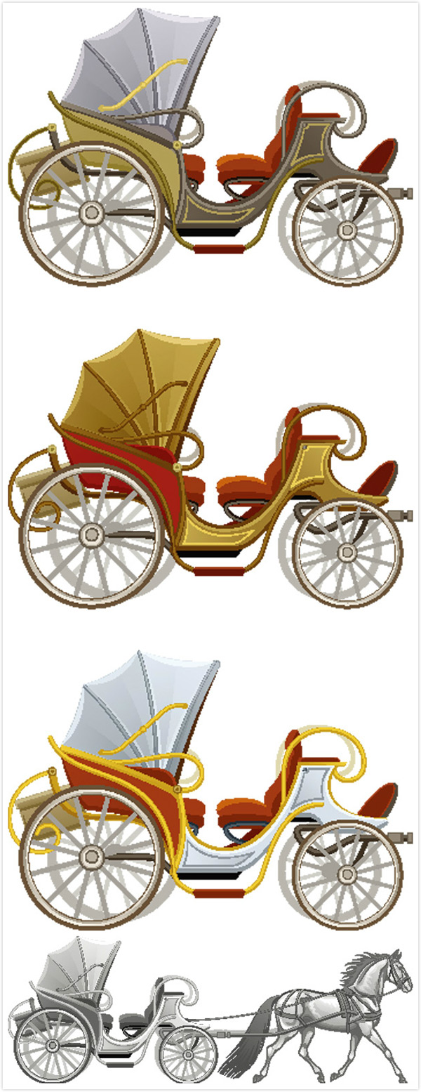 素材分类: 矢量交通所需点数: 0 点 关键词: 欧式马车交通工具矢量