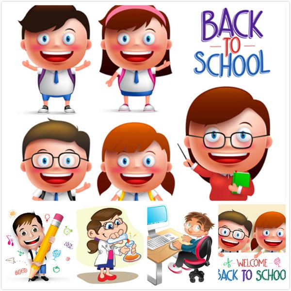学生卡通人物_素材中国sccnn.com