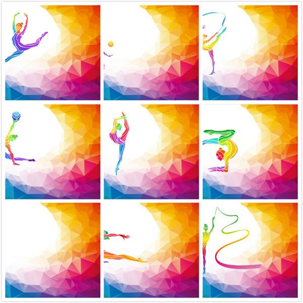 健美底纹,体育体育,竞技背景,女性背景,健身,运动,锻炼,项目,健身彩色a健美攀岩者图片
