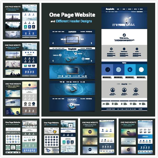 网页元素设计矢量