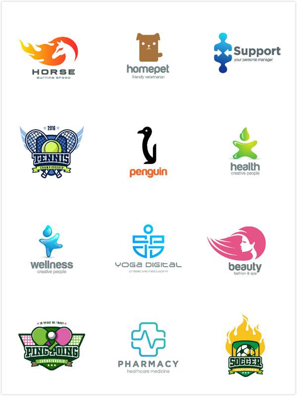 个性炫彩标志,标志图形,logo设计,创意logo图形,标志设计,商标设计,企