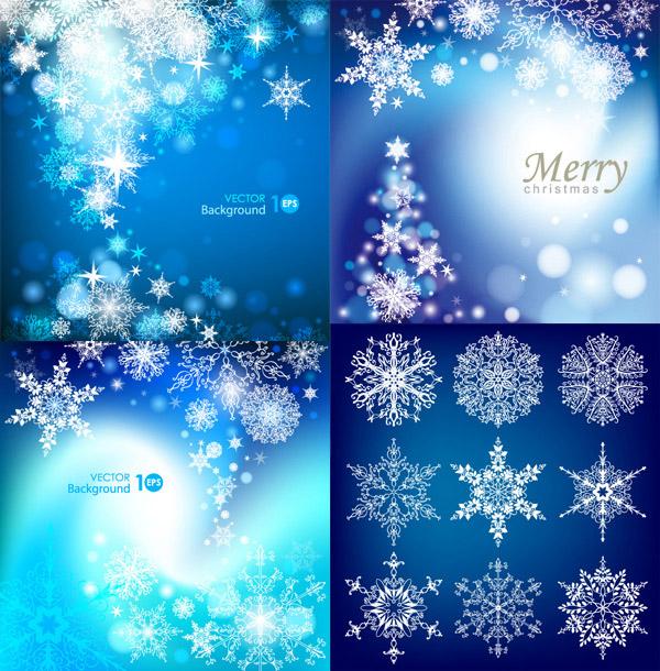 素材分类: 矢量背景所需点数: 0 点 关键词: 圣诞雪花背景矢量素材