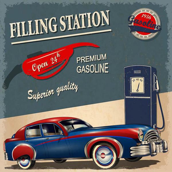 加油站宣传海报