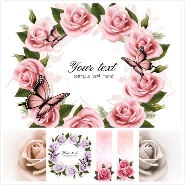 玫瑰花花环装饰