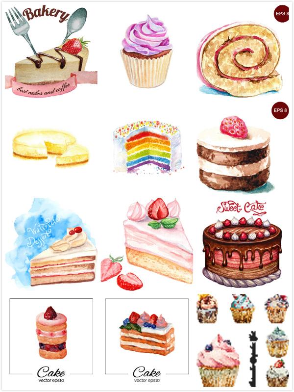 素材分类: 矢量美食所需点数: 0 点 关键词: 彩色蛋糕甜点设计矢量