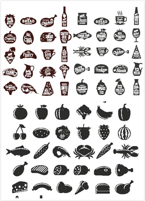 美食食物图标_素材中国sccnn.com