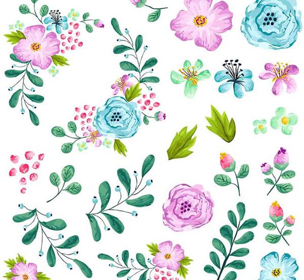 花朵边框矢量图,花朵背景矢量图
