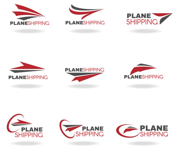 纸飞机标志设计矢量素材