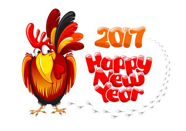 2017鸡年贺卡模板,2017鸡年