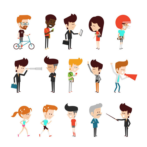 商务小人矢量图,人物矢量图,商务小人,商务,小人,职业,运动,人物,卡通