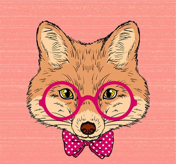 卡通手绘狐狸头像