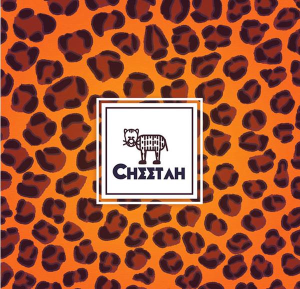 创意猎豹花纹背景矢量图下载,动物,野生,猎豹,花纹,背景,矢量图,ai