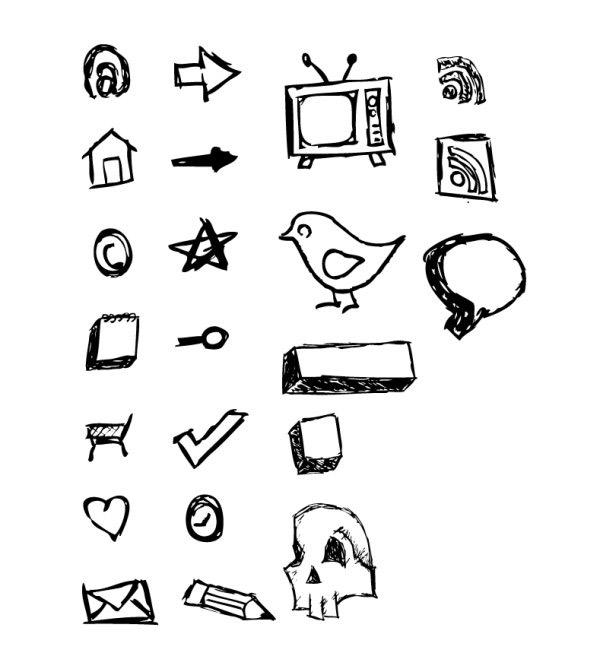 动物图形简笔画几何图形
