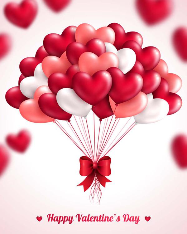 心形气球矢量