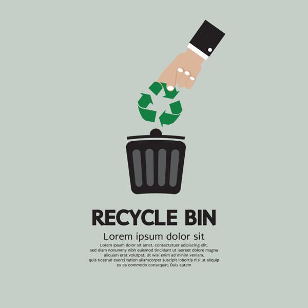 扁平化绿色环保图标矢量图下载,扁平化,绿色,环保,图标,垃圾桶,回收
