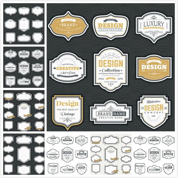 欧式时尚标签矢量素材,欧式标签,时尚标签,个性标签,欧式花纹,边框线条,线框,古典复古,标贴标签,贴纸促销,标签矢量,标签图标,标签设计,徽标徽章标帖,标志图标,矢量素材,EPS