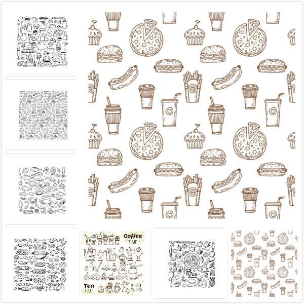 手绘食物图案