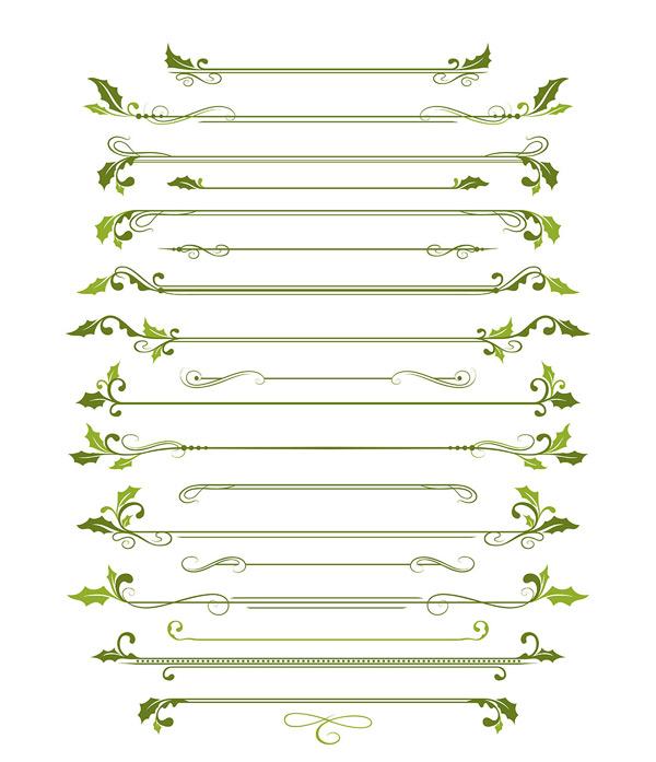 矢量花纹所需点数: 0 点 关键词: 植物花纹设计矢量素材,绿色,树叶