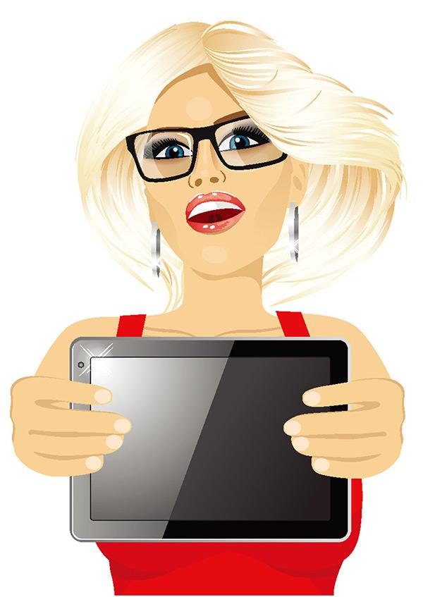 拿着平板电脑的卡通美女矢量图下载,平板电脑,卡通,美女,人物,洗手池,电子产品,等距,伦敦,旅游,插画,风景,建筑,包,立体,照镜子,传输机,机械,人物,箱子,奖杯,商务人士,男人,商务,金发女孩,金发美女,矢量图,eps格式