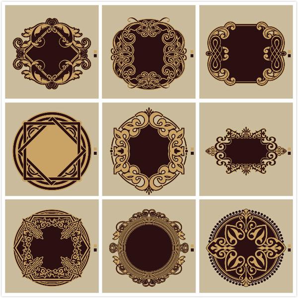 复古欧式花纹矢量素材
