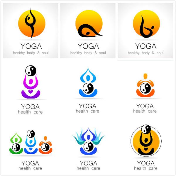 素材分类: 矢量logo图形所需点数: 0 点 关键词: 瑜伽标志设计矢量