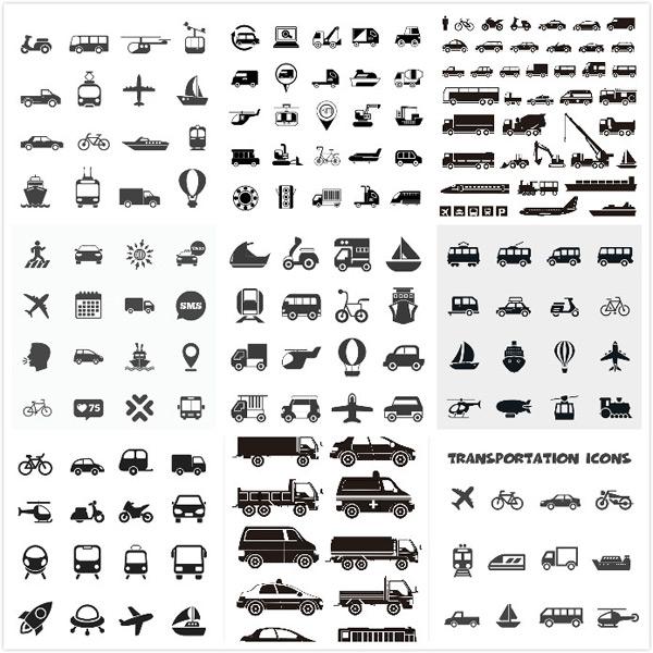 运输工具小图标_素材中国sccnn.com