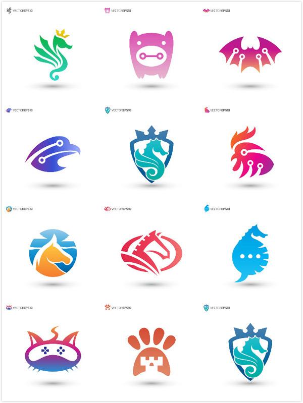 素材分类: 矢量logo图形所需点数: 0 点 关键词: 彩色动物标志矢量素