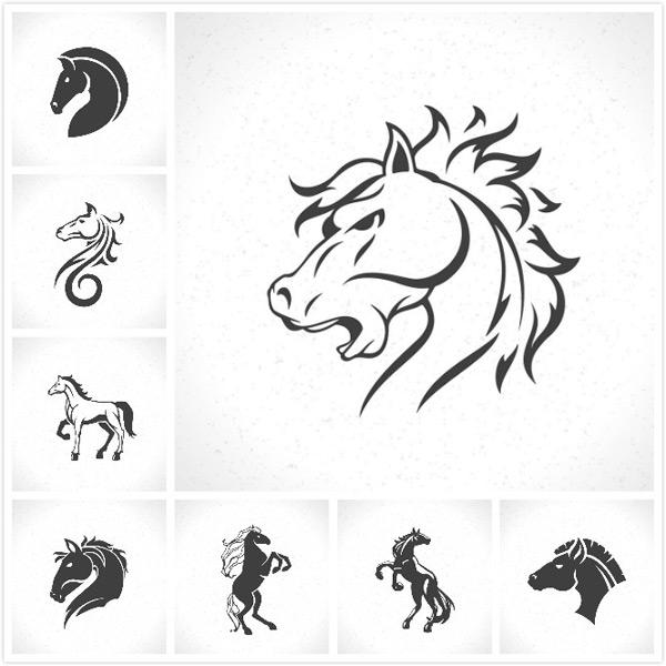 素材分类: 矢量logo图形所需点数: 0 点 关键词: 马头形状标志设计