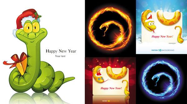 2013主题卡通小蛇图案矢量素材免费下载,矢量素材,矢量图,新年,蛇年,2013,癸巳年,小蛇,图案,圆形,圣诞帽,圣诞节,背景,光芒,发光,放射,HappyNewYear,XmasMerryChristmas,EPS格式