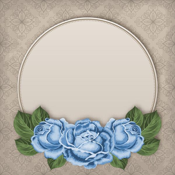 玫瑰装饰背景