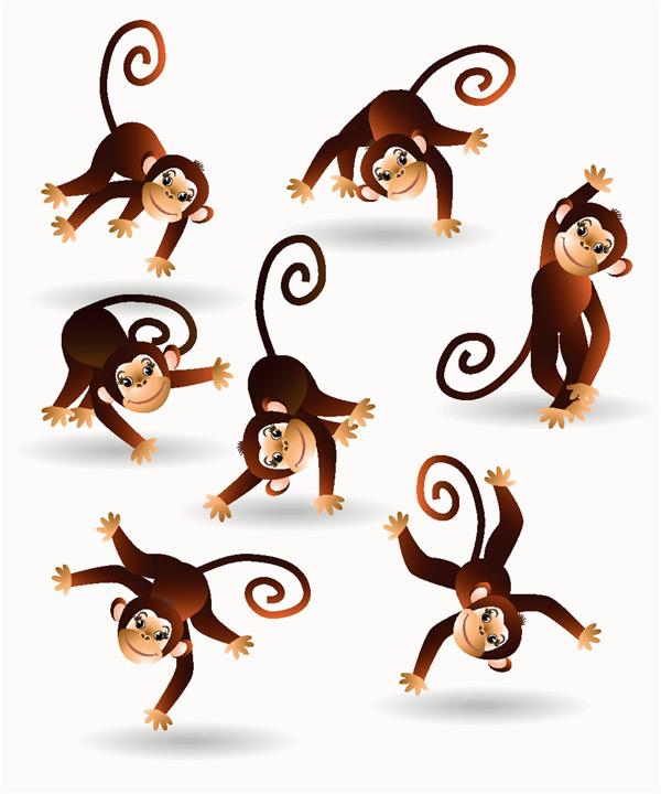 0 点 关键词: 卡通猴子漫画矢量图下载,卡通,猴子,动物,漫画,手绘,矢